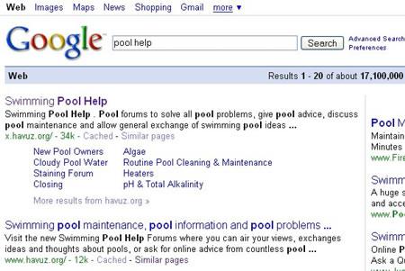 swimming pool help blog google sitelinks for pool help forum
